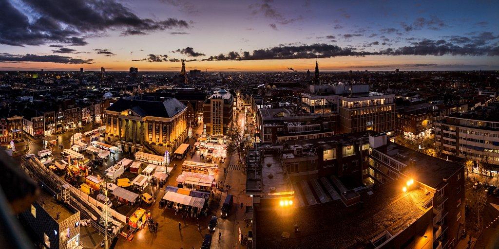 Winter sunset over Groningen